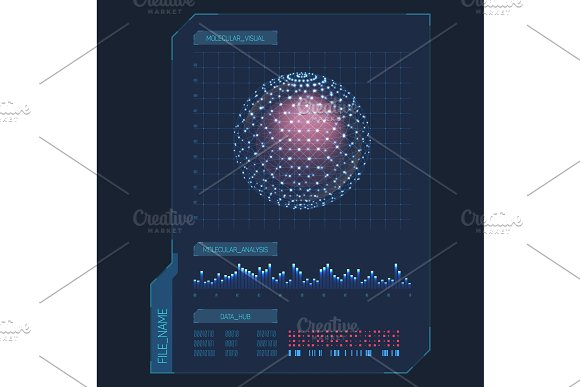 Infographic Items For Molecule Visualization