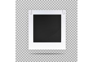 Blank picture or square frame for portrait