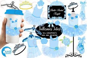 Ballerina tutus in blue AMB-1319