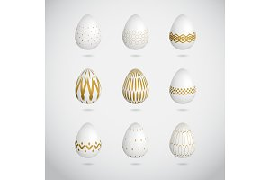 gold Easter Eggs vector