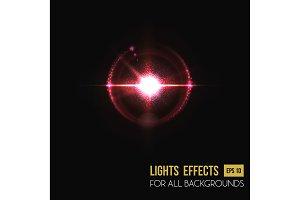 Bright sunlight lens glass light effect