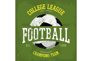 Logo for soccer or football t-shirt