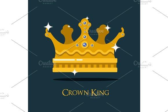 Crest Or King Queen Golden Crown