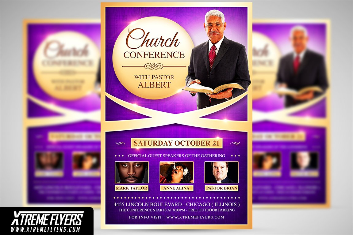 church conference flyer template flyer templates creative market