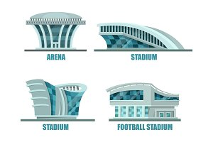 Soccer or football sport stadium or field.