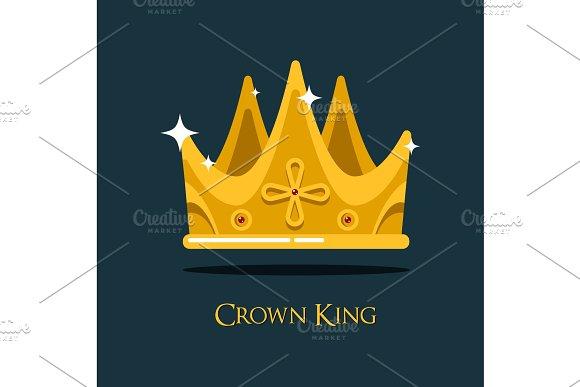 Golden King Crown Or Retro Monarch Headdress