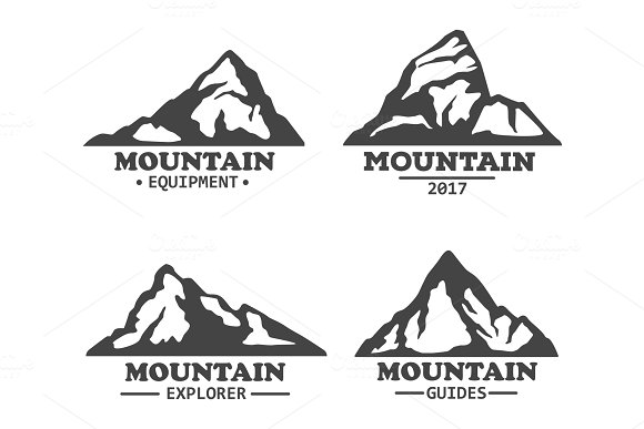 Isolated Mountains Logo Or Signs