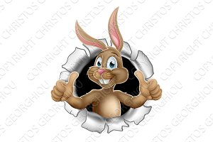 Thumbs Up Easter Bunny