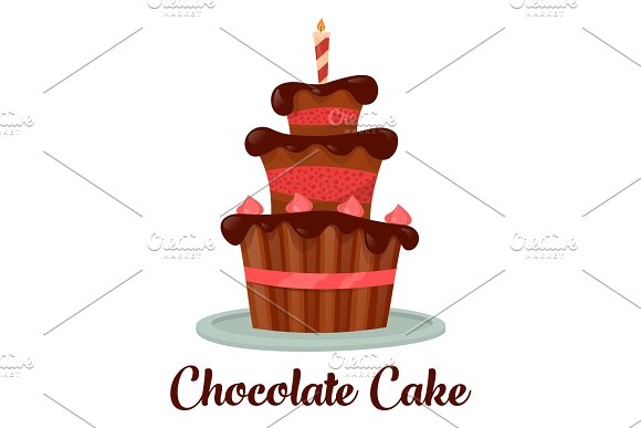 Celebration Dessert Cake With Candle