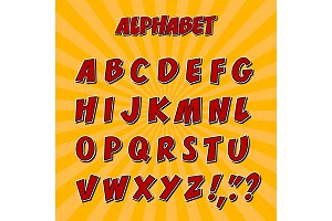 Kids alphabet or 3d font with letters.