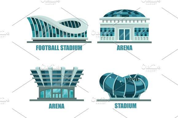 Glassware Futuristic Football Or Soccer Stadium