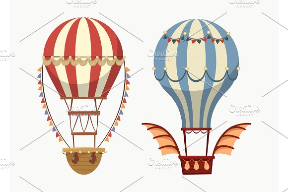 Transport Air Balloon With Balance And Lights