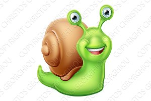 Snail Cartoon Character