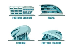 Soccer field or football stadium architecture