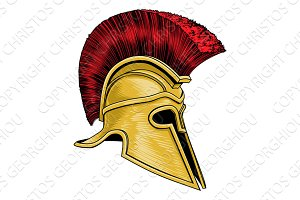 Ancient Greek Spartan Gladiator Warrior Helmet