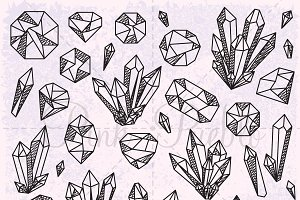 Crystal and Gemstone Clipart
