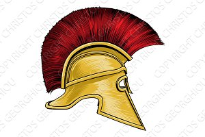 Spartan Ancient Greek Gladiator Warrior Helmet