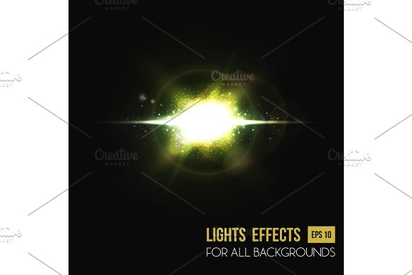 Sun Light Effects And Abstract Lens Background
