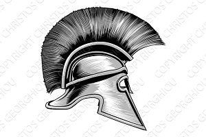 Spartan Ancient Greek Warrior Gladiator Helmet