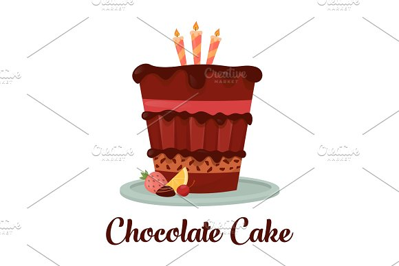 Anniversary Dessert Cake With Chocolate And Lemon