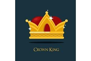 Pope or king crown or tiara