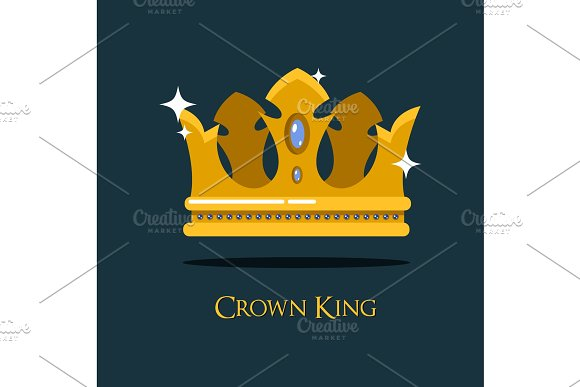 Queen Or King Gold Diadem Or Royal Crown