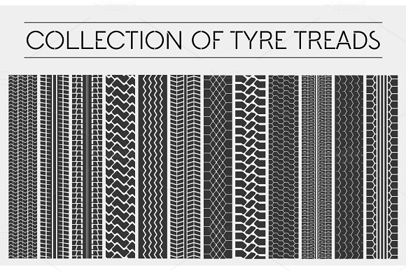 Wheel Or Tire Tyre Treads Or Car Tracks