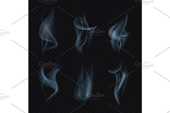 Cigarette Smoke Or Mist On Transparent Background