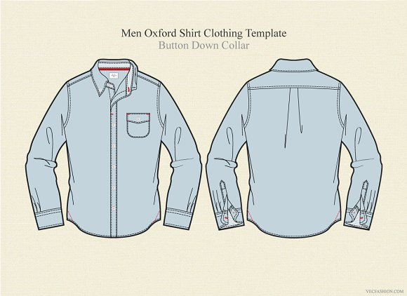 men oxford shirt clothing template illustrations creative market