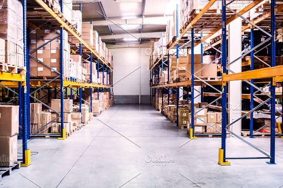 An Interior Of A Warehouse