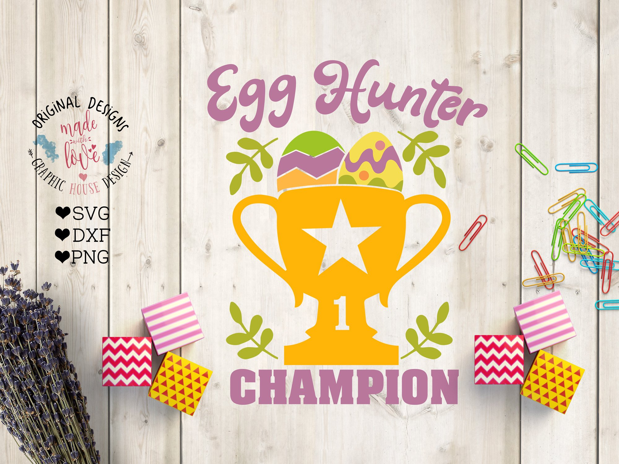 Egg Hunter Champion Cut File Pre Designed Photoshop Graphics Creative Market