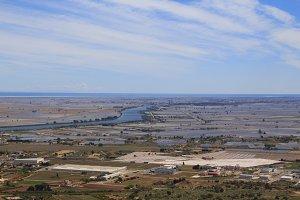 Ebro river in the delta