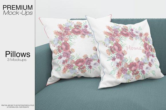 Bordered Pillow Mockup