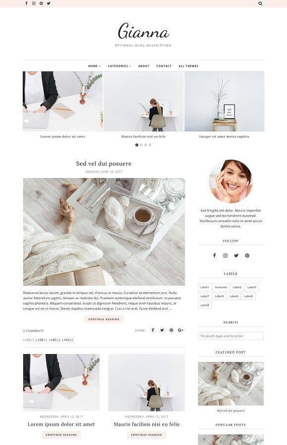 Blogger Template Blogger Theme