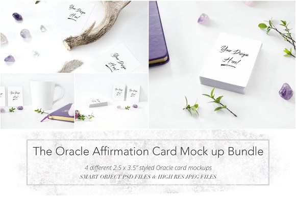 The Oracle Affirmation Card Mock Up