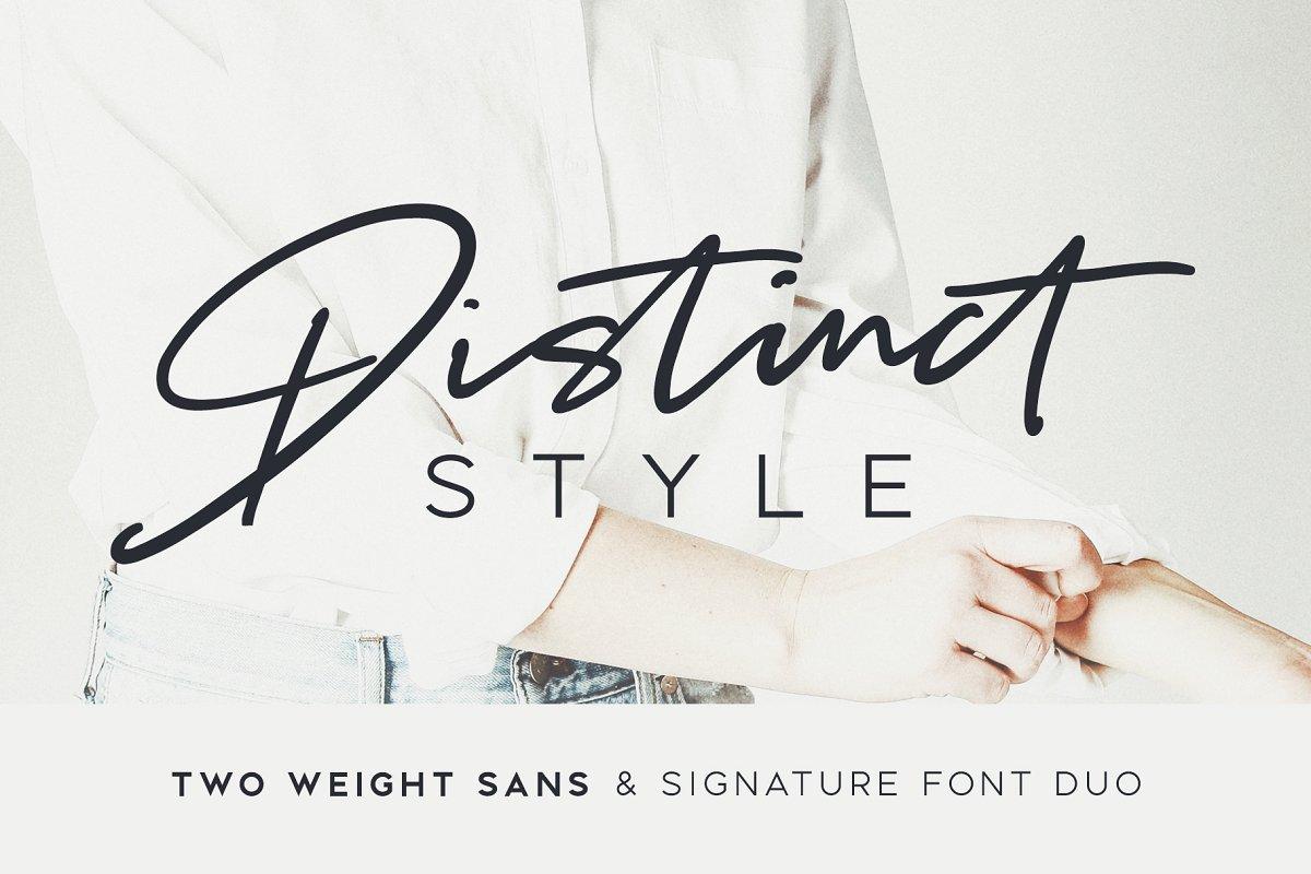 Distinct Style Font Duo ~ Script Fonts ~ Creative Market