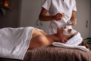 Woman having spa procedure