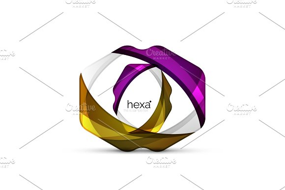Clean Professional Hexagon Shape Business Emblem