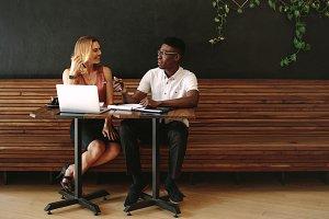 Man and woman entrepreneurs