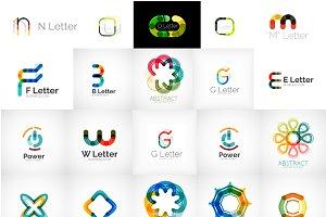 Universal letter logos
