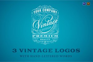 3 vintage logos