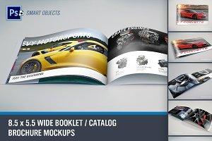 Wide Format Booklet PSD Mockups