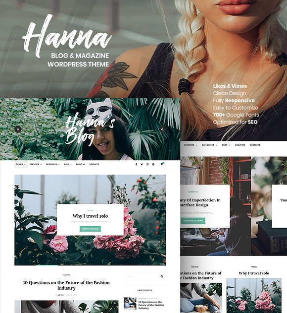 Hanna A Beautiful WordPress Blog