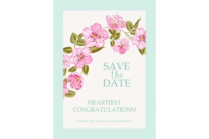 Save the date card.