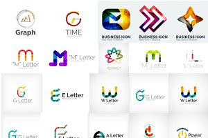 Abstract business logos set