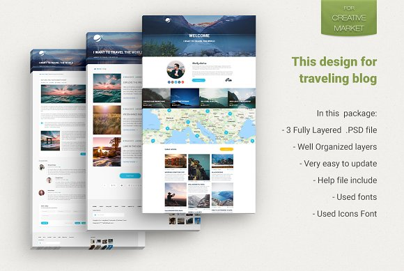 Travel Blog Theme