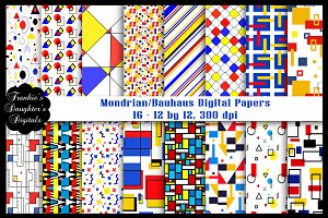 Mondrian/Bauhaus Digital Papers