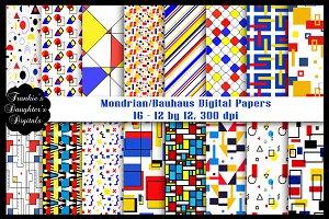 Mondrian/Bauhaus Digital Papers
