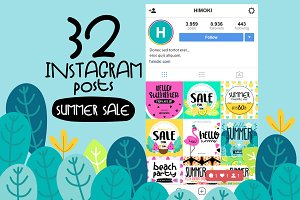 32 Instagram post-SUMMER sale