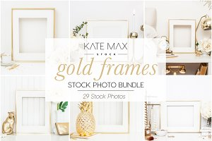 Gold Frames Stock Photo Bundle
